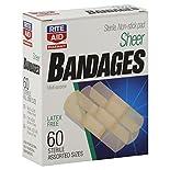 Rite Aid Pharmacy Bandages, Sheer, Latex Free, Assorted Sizes, 60 bandages