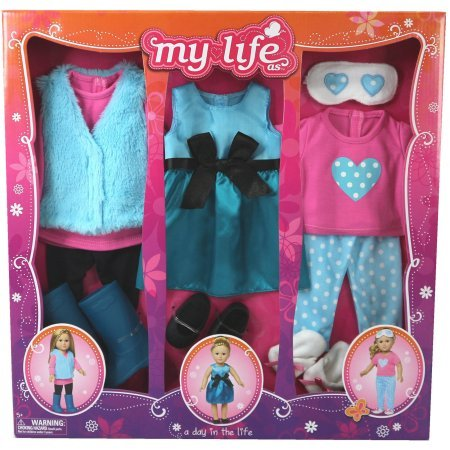My Life As A Day in the Life Doll Clothing Set, Blue Fur (My Life Clothes compare prices)