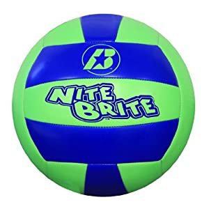 Click here to buy Baden Nite Brite Official Size 5 Cushioned Glow-in-the-Dark Volleyball by Baden.