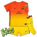Nike Away Baby Kit FC Barcelona Babies Football Kit safety orangetour yellowmidnight navy Size6 9