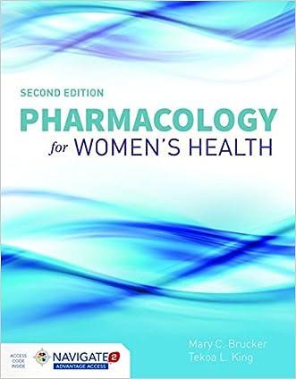 Pharmacology For Women's Health written by Mary C. Brucker
