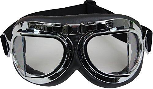 Fliegerbrille Air Force Motorradbrille in schwarz oder chrom Chrom OneSize