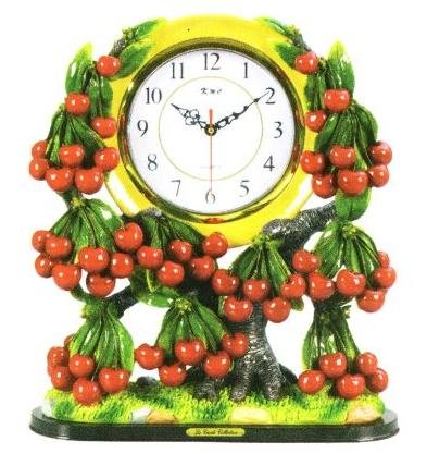 CHERRY 3D Shelf Mantle Clock w/ GREAT Detail *NEW*!