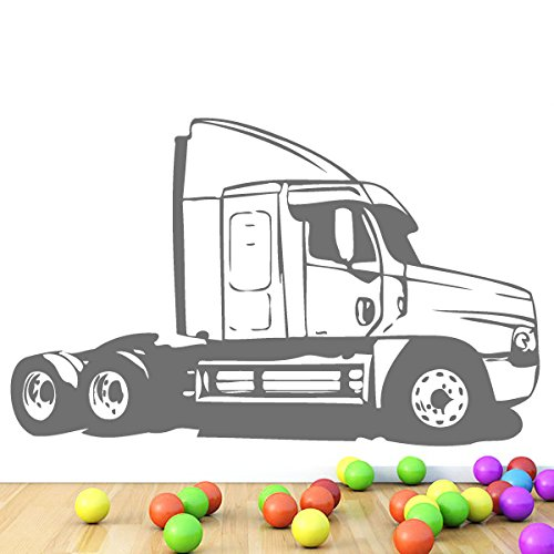 Wall Vinyl Sticker Decal Truck Without The Cargo Carrier Nursery Room Nice Picture Decor Mural Hall Wall Ki932 front-57326