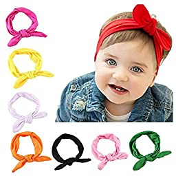 SKYLARKING For Little Baby Girl Newborn Turban Headband Head Wrap Wear Hair Band