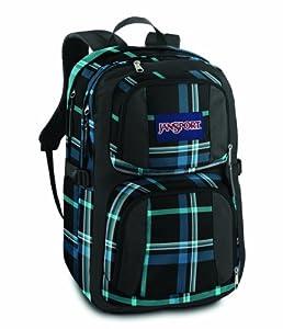 Jansport Merit Daypack - Black/Blue Streak Perry Plaid from Jansport