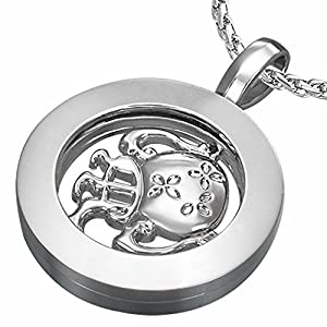 Fashion Alloy Aquarius Zodiac Sign Inner-roller Circle Pendant
