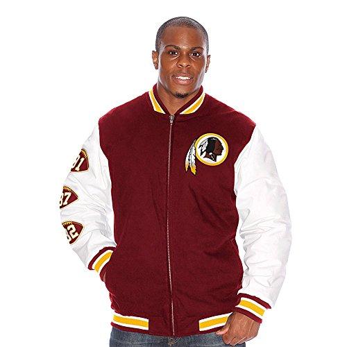 Washington redskins leather jacket