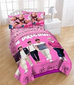 one direction full band comforter set full double size strolling. Black Bedroom Furniture Sets. Home Design Ideas