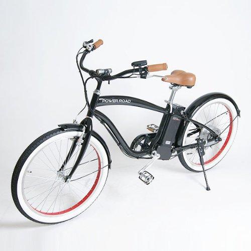 【raku-na】POWER ROAD ビーチクルーザー 24インチ 電動アシスト自転車(PR314)