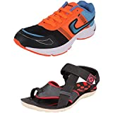 Tempo Men's Combo Pack Of Sports Shoes (Running Shoes & Sandals)