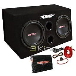 Audiopipe XBX1000B Xxx Bass Pkg.dual 10 W/amp + Amp Kit. Black Woofers