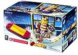 echange, troc Console PSP 3000 Rouge + Buzz ! Le plus malin des Français + Housse + Stickers