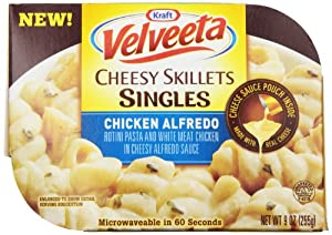 Kraft Velveeta Cheesy Skillets Singles, Chicken Alfredo, 9 Ounce