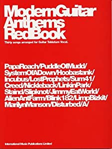 Modern Guitar Anthems: Red Book. Partituras para Acorde de Guitarra(Pentagramas )