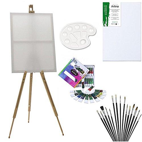 artinar-set-di-pittura-con-cavalletto-da-campagna-malaga-12-colori-acrilici-1-tavolozza-12-pennelli-