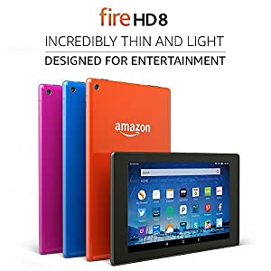 """Certified Refurbished Fire HD 8 Tablet, 8"""" HD Display, Wi-Fi, 8 GB - Includes Special Offers, Black (Previous Generation - 5th) from Amazon"""