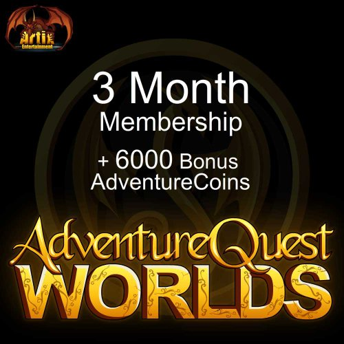 3 Month Membership and 6000 AC: AdventureQuest