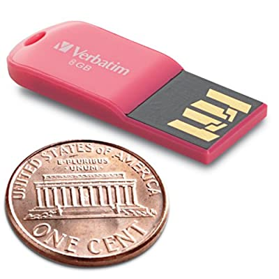 Verbatim 8 GB Store 'n' Go Micro USB 2.0 Flash Drive, Pink 47424