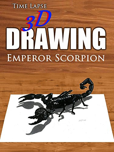 Time Lapse 3D Drawing: Emperor Scorpion