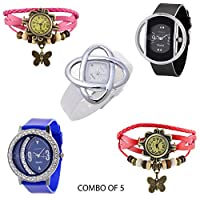KITCONE DESIGNER WATCHES COMBO PACK FOR WOMENS,GIRLS,LADIES... Analogue Beige Wrist Watch