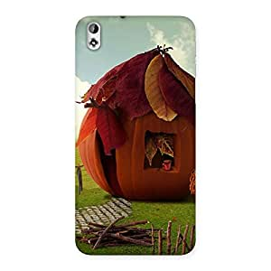 Cutest Hut Print Back Case Cover for HTC Desire 816g