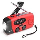 Esky ES-CR01 Solar Hand Crank Self Powered Radio with LED Flashlight and 1000mAh Power Bank