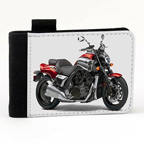 Moto 10027, Motocicletta, Nero Polyester Piccolo Cartella Congressi block notes Tasca Taccuino con Fronte di Sublimazione e alta qualità Design Colorato.Dimensioni A7-131x93mm.