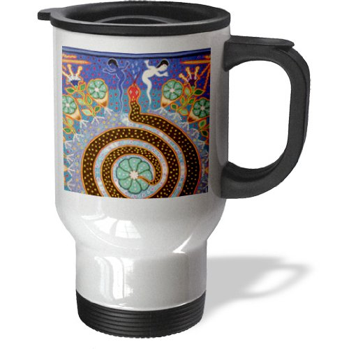Tm_92754_1 Danita Delimont - Folk Art - Folk Art, Huichol Art, Santa Fe, New Mexico - Us32 Jmr1118 - Julien Mcroberts - Travel Mug - 14Oz Stainless Steel Travel Mug