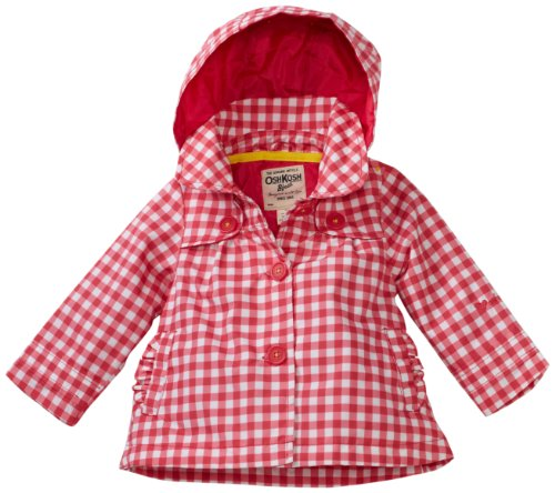 Osh Kosh Baby-girls Infant Gingham Trench Coat, Pink, 24 Months