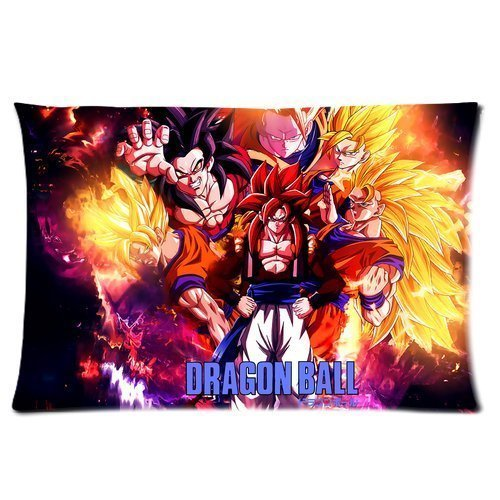 Yokon Anime Mystic Dragon Ball Z Custom Rectangle Pillowcase Pillow Cases Cover 16x24 (one side) Standard Size Super Cartoons Anime Series