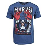Captain America Marvel Comics Steve Rogers Super Soldier Adult T-Shirt Tee