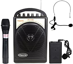 Hisonic HS122B-HL 40 Watts Rechargeable & Portable PA System with Built-in Dual Wireless Microphones