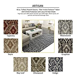 2\'x3\' Olivewood - ARTISAN - Custom Carpet Area Rug - 40 Oz. Tufted, Pinpoint Saxony - Nylon by Milliken (7 Colors to Choose From)