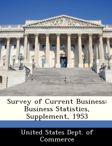 Survey of Current Business: Business Statistics, Supplement, 1953