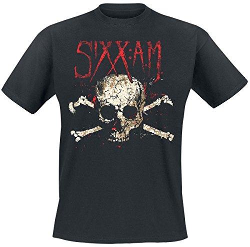 Sixx: A.M. Skull T-Shirt nero M