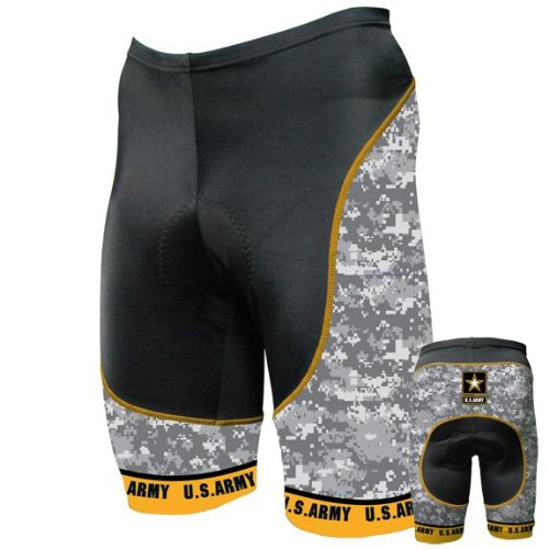 Old Glory Mens US Army - Camo Cycling Shorts - 2X-Large Black