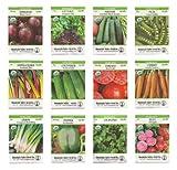 Organic Heirloom Vegetable Seed Variety Pack