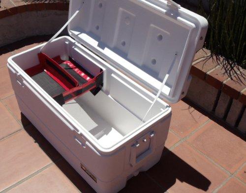 Cooler Shelf Large W Removable Divider Red Best Yeti