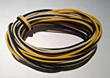 30 Feet (10-white/10-black/10-yellow) Gavitt Cloth-covered Pre-tinned 7-strand Pushback 22awg Vintage-style Guitar Wire
