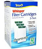 Tetra Whisper Filter Cartridges 3-Pack, Medium (Internal 2-10 gal / Power Filters 5-15 gal)