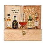 Set Bester Whisky - Gold-prämiert und ausgezeichnet - Aberlour 10, Glenlivet 12, Bunnahabain 12, Glenfarclas 12 und Glencairn Whiskyglas (4 x 0.05 l)