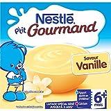 Nestlé Bébé P'tit Gourmand Laitage Vanille Laitage dès 6 mois 4 x 100 g - Lot de 6 (24 coupelles)