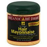Organic Root Stimulator Treatment for Damaged Hair, Hair Mayonnaise, 16 oz.