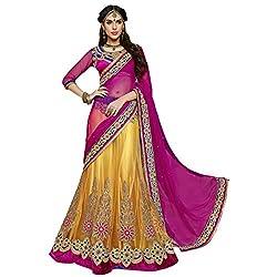 Aagaman Fashions Net Lehenga Cholis (YTSMH6619_Yellow)
