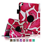 Fintie 360 Degree Rotating Stand Smart Cover Case with Automatic Sleep/Wake Feature for Apple iPad Mini 7.9 inch Tablet - Giraffe Pink