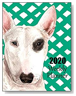 Bull Terrier 2020 Dated Weekly Planner - A fun canine-themed planner to help any dog lover stay organized and keep track of activities on a daily, weekly, and monthly basis from January to December 2020.