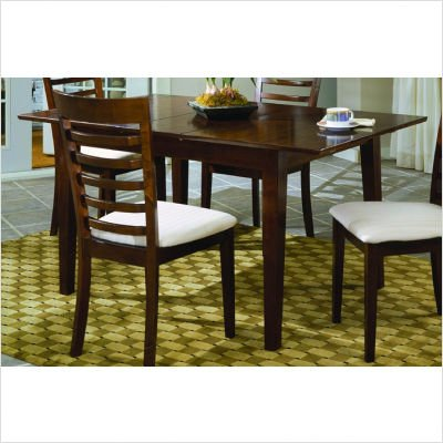 Buy Low Price Woodbridge Home Designs 758 Series Dining Table With Butterfly Leaf In Rich Merlot