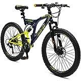 "Merax 26"" Full Suspension 21 Speed Mountain Bike with Disc Brake"