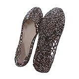 「XD'S」 靴 可愛い シューズ サンダル メッシュラバー きらきらラメ ソフトソール グラデーションラメ メッシュ フラットシューズ 女の子 レディース レインパンプス ビーチサン 雨靴 (サイズ:23~25cm)